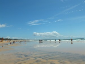 Last weekend - conditions were perfect on Rainbow Beach, ready for Easter.
