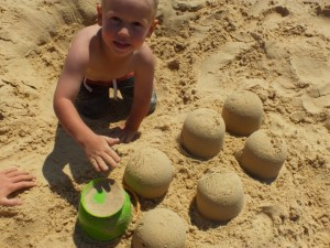 Build a sandcastle like Orry Gilmore in the Sandcastle Competition, held on April 15