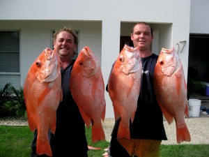 Ed and Brandan with some cracker scarlet perch