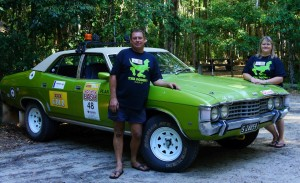"""""""The Dodgy's"""" - Dean and Andrea Hayes with the 1976 ZG Ford Fairlane, prepare for their first Variety Bash together"""