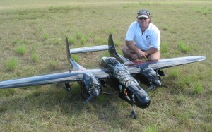 Pilots come from far and wide to attend Tin Can bay Warbirds - here's Steve Thomas with his Northrop P-61 Black Widow