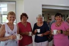 Annette, Jenny, Margaret, Marie, enjoying the refreshments