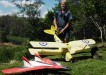 Old and new:  Nic Case does some maintenance on his Tigermoth ready for May 3 and 4