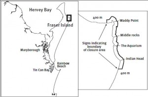 Fraser Island closed waters