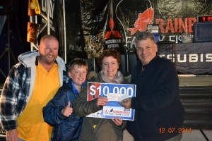 Sharlene Schluter and her family were thrilled to win the $10, 000! Image RBSRC