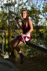 State representative for hockey, Chloe Dredge from Rainbow Beach