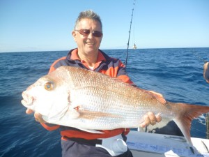 Lauchie  with a quality snapper.