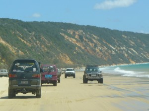 The 4WD protest to Double Island Point, 2009
