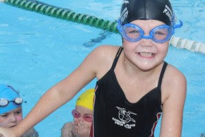 Jahli's first swim race in Cooroy