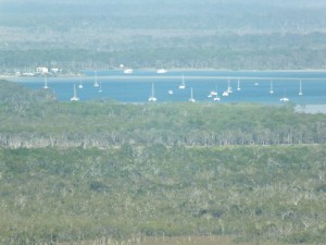 Views over Tin Can Bay Inlet taken from Carlo Sandblow