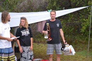 Well done – first place for Jimmy