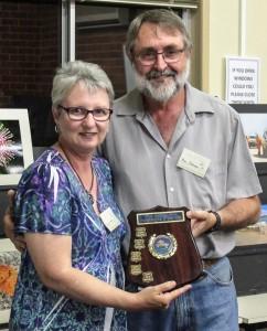 Ron Johnson presents A Grade Print Award to Julie Hartwig