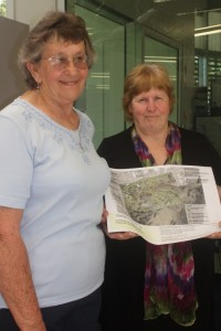 Jackie Moore and Joan Creswell urge locals to comment on the masterplan