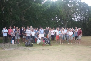 Over 70 people protested about the demise of the Rainbow Shores Golf Course last month