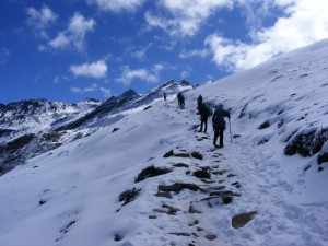 Up Into the snow - Langtang National Park -Nepal