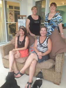 Kylie, Andrea, Cherie and Tamara welcome you to the new salon