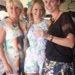 Kay-lynn Ladas, Katerina Logotheti and Fiona Worthington have a flutter on the Rainbow races