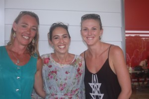 Rainbow Beach's Rachel Croker, Kirstie Morris-Jordison and Brooke Bignall encourage everyone to help out the P&C