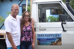 Len and Karin are the happy new owners of a business that suits their lifestyle