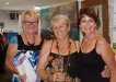 Judge Margaret Sanderson, Yvonne Winsor (with her quilt Australia Wild Flower) and Ingrid Channels