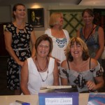 Working hard behind the scenes: organisers Afra Chappill, Peggy Phelan, Kathy McFarlane, Sandra Keily and Marcia Durey