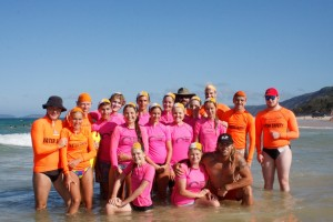 The successful recruits with their trainers and water safety helpers