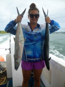 Two spotty mackerel – well done, Tiarna