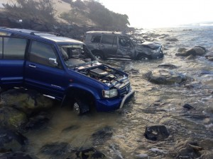 Mudlo Rocks Car Wrecks - image Kate Gilmore