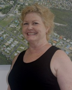 See Ann-Marie Lavers-Grimm from Rainbow Beach Realty shave it all off for cancer