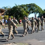 Visiting Gurka battalion joined the March at Tin Can Bay