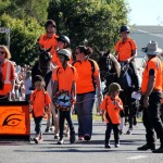 Think Like A Pony stand out in their orange, honouring the Lighthorse Brigades