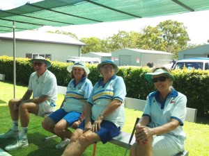 Chilling out on Invitation Day, D. Sutherland, M. Robinson, J. Mallety and A. Sneigowski