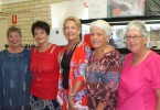 Models Margie Turmaine, Annette Bourke, Christine Laughton, Claire Moloney and Sue Ramsay took turns down the catwalk