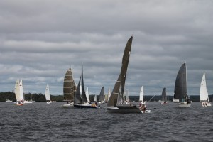 The Fleet on Day one of the Annual Bay to Bay race