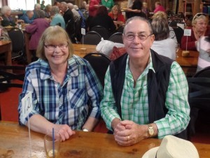 Lunch at Silky Oaks:  Yvonne Jeffrey and Phil Herron