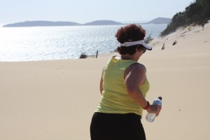 Traversing Carlo Sandblow: there is something for everyone - beginners, walkers and runners at one of Queensland's most picturesque run trails