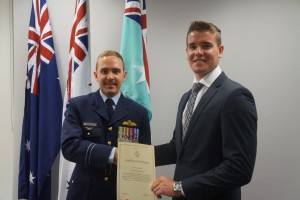 Air Force recruit: Local, Will Hethorn, has left the beach for Wagga!