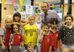 Principal John Jose and students