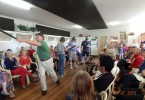 The Fashion parade brought varied outfits sourced in Op Shops, a bit of fun and a full house!