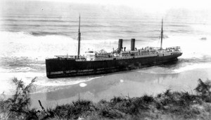 Maheno aground on Fraser Island Image State Library of Queensland
