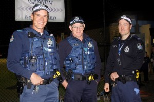 Officers Michael Brantz, Darren Grieve and Adam Lawes reported no drink drivers, no liquor incidents and no traffic incidents during the annual fishing competition