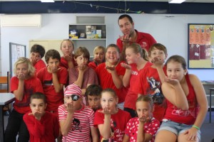 Mr Grogan and Class 4/5/6 kiss goodbye MS