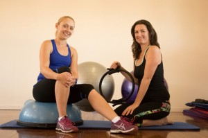 Krystal Brookes and Sarah Booth Instructors of Cardio-Step
