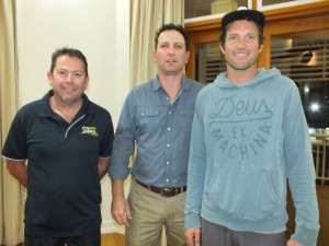 Steve Hargraves, Heatley Gilmore and Tyron van Santen are keen to see growth in tourism markets