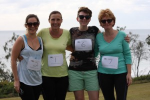 Mums and daughters take on the 5km: Rochelle Harling, Sue Bennett, Emma and Helen Window