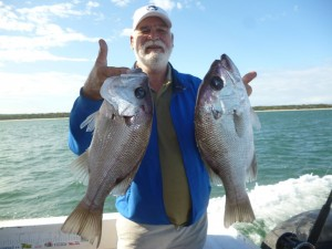 Ray with his pearl perch pair