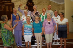 At their second practice - a new choral group for the coast
