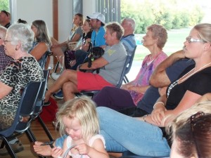 People arrived from all over the coast and Gympie to hear Steve sing