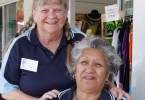 Larraine Goodwin and Barbara Bennett say there are plenty of prizes in the Fishing Club raffles