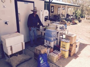 "Richard Cribb from ""Gydia Park"", Isisford with some supplies from us"